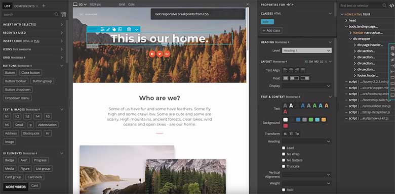 Pinegrow is among the best visual website builders available