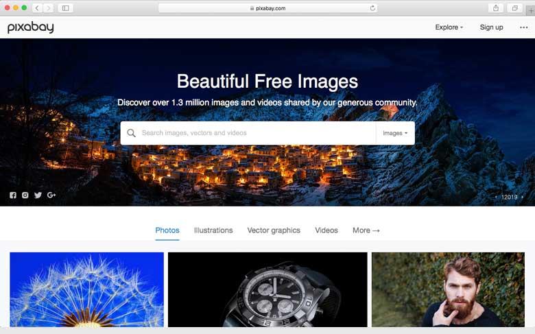 Pixabay.com is a popular site for free photos