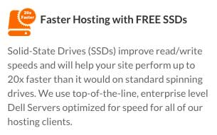 SSDs are the fastest drives available, and Web Hosting Hub uses them on all their plans