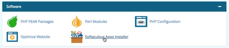 Softaculous provides easy one-click auto-installers for WordPress and other popular web applications