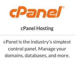 The industry-standard cPanel is used on all Web Hosting Hub plans