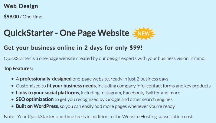Optionally, take advantage of Web Hosting Hub's in-house web design services