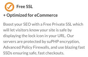 Web Hosting Hub includes a free SSL certificate with each of it's plans