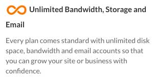 All Web Hosting Hub plans include unlimited storage and bandwidth