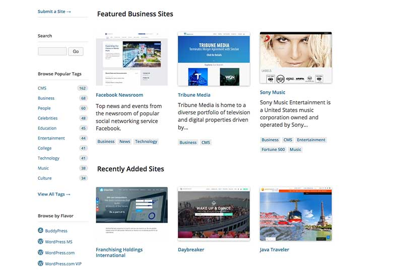 Like Lego, you can use WordPress to build all kinds of different websites