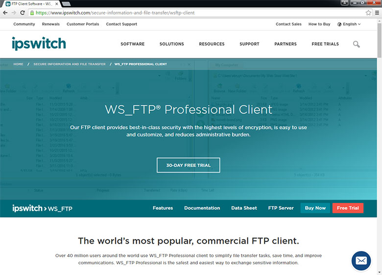WS_FTP is a commercial-grade FTP application that comes with business-oriented users in mind.