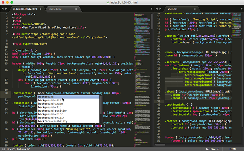 Sublime Text's productivity-focused interface