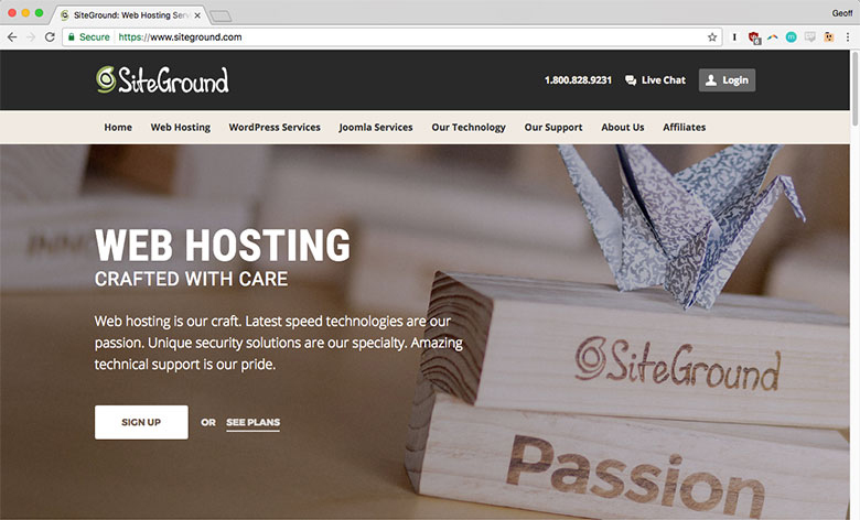 In addition to shared hosting, SiteGround also offers dedicated and cloud hosting plans.