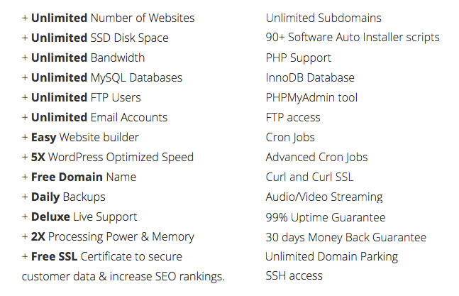 It's often difficult to make sense out of all the features and extras web hosts include.