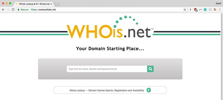 A WhoIs lookup can reveal who owns a specific domain name...and other secrets of the internets!